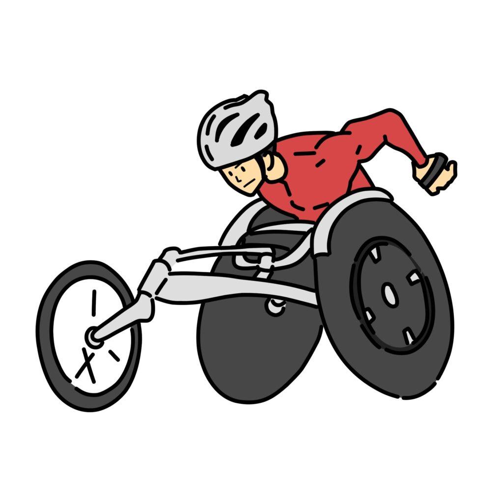 車椅子陸上のイメージ