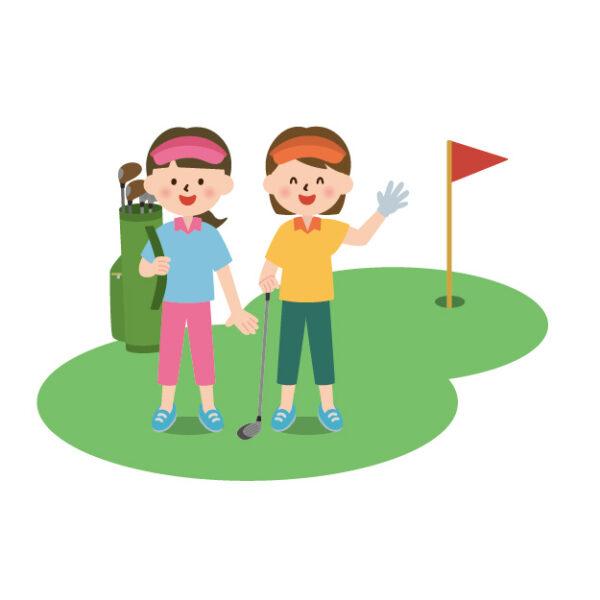 女子ゴルファーのイメージ