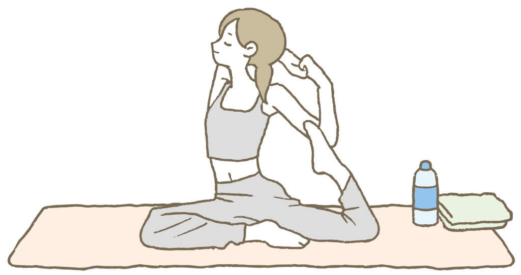 ピラティスをする女性のイメージ