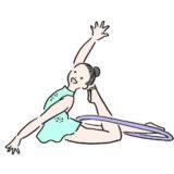 女性の新体操選手