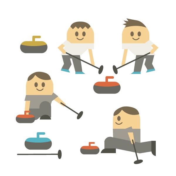 カーリング競技のイメージ