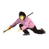 女子カーリング選手のイメージ