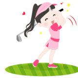 美人女子ゴルファーのイメージ
